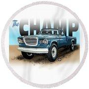 The Champ Round Beach Towel