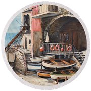 The Chandler Round Beach Towel by Alan Lakin