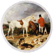 The Change, 1823 Round Beach Towel