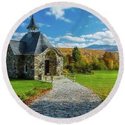 The Chapel Round Beach Towel
