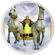 The Chariot Round Beach Towel