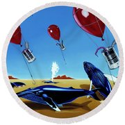 The Chase Round Beach Towel