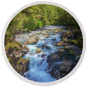The Chasm Southland New Zealand Round Beach Towel