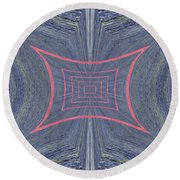 The Chasm Within Round Beach Towel