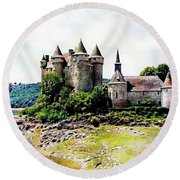 The Chateau De Val Round Beach Towel by Joseph Hendrix
