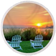 The Chesapeake Round Beach Towel by Brian Wallace