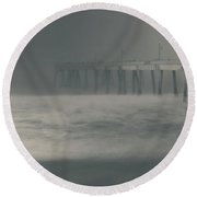 Round Beach Towel featuring the photograph The Chill In My Bones by Laurie Search