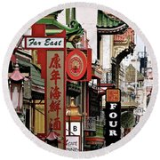 The Chinatown Mysteries Round Beach Towel