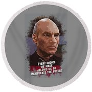 The Choice - Picard Round Beach Towel