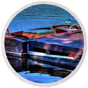 The Vintage 1958 Chris Craft Round Beach Towel