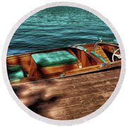 The Chris Craft Continental - 1958 Round Beach Towel