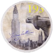The Chrysler Building Round Beach Towel