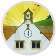 Round Beach Towel featuring the photograph The Church Bell by LemonArt Photography