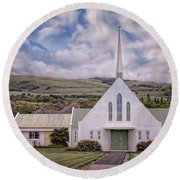 The Church Round Beach Towel