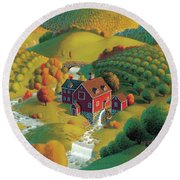 The Cider Mill Round Beach Towel