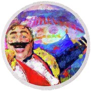 The Circus Round Beach Towel