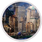 The City Round Beach Towel