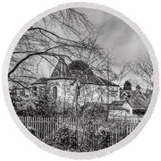 Round Beach Towel featuring the photograph The Claremont by Jeremy Lavender Photography