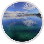 Round Beach Towel featuring the photograph The Clarity Of Winter by Sean Sarsfield