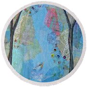 The Clearing I Round Beach Towel