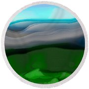 The Hilltop View Round Beach Towel