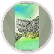 The Cliffs Round Beach Towel by Lenore Senior