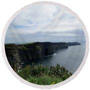 The Cliffs Of Moher Ireland Round Beach Towel