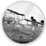 Round Beach Towel featuring the photograph The Climbers by John Williams