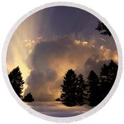 The Cloud Round Beach Towel
