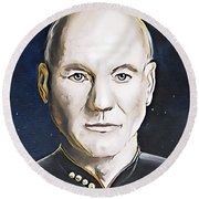 The Commanding Officer Round Beach Towel
