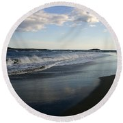 The Coast Round Beach Towel by Shana Rowe Jackson