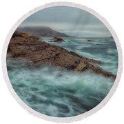 The Coastline Round Beach Towel by Jonathan Nguyen