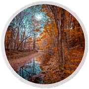 The Color Of Fall Round Beach Towel
