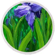 The Color Of Royalty Round Beach Towel