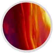 Round Beach Towel featuring the photograph The Color Spectrum by Jennifer Lake