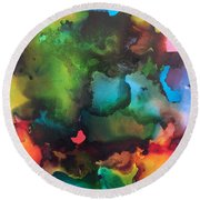 The Color Wheel Round Beach Towel