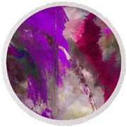 The Colorful Bustier Painting Round Beach Towel by Lisa Kaiser