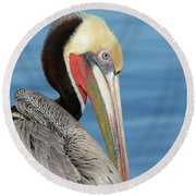 The Colors Of Love Round Beach Towel by Fraida Gutovich