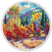The Colors Of New Hampshire Round Beach Towel