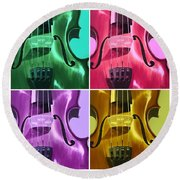 The Colors Of Sound Round Beach Towel
