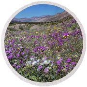 Round Beach Towel featuring the photograph The Colors Of Spring Super Bloom 2017 by Peter Tellone