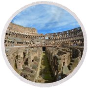 The Colosseum Round Beach Towel
