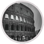 The Colosseum, Rome Italy Round Beach Towel