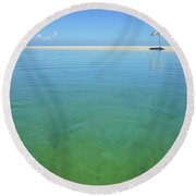 The Colours Of Paradise On A Summer Day Round Beach Towel
