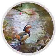 Round Beach Towel featuring the photograph The Colours Of Spring by LemonArt Photography