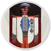 The Commander Round Beach Towel by Bob Coonts