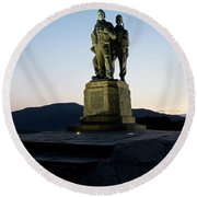 The Commando Memorial Round Beach Towel