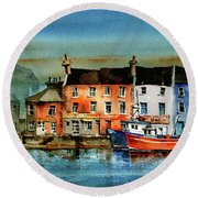 The Commercial Docks, Galway Citie Round Beach Towel