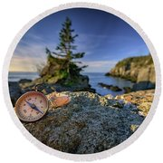 Round Beach Towel featuring the photograph The Compass by Rick Berk