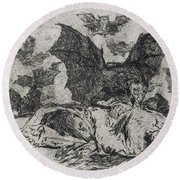 The Consequences Round Beach Towel by Goya